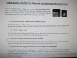 barcode printer purchase checklist