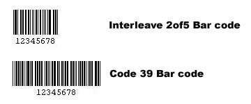 Interleave 2 of 5 and Code 39 Barcodes